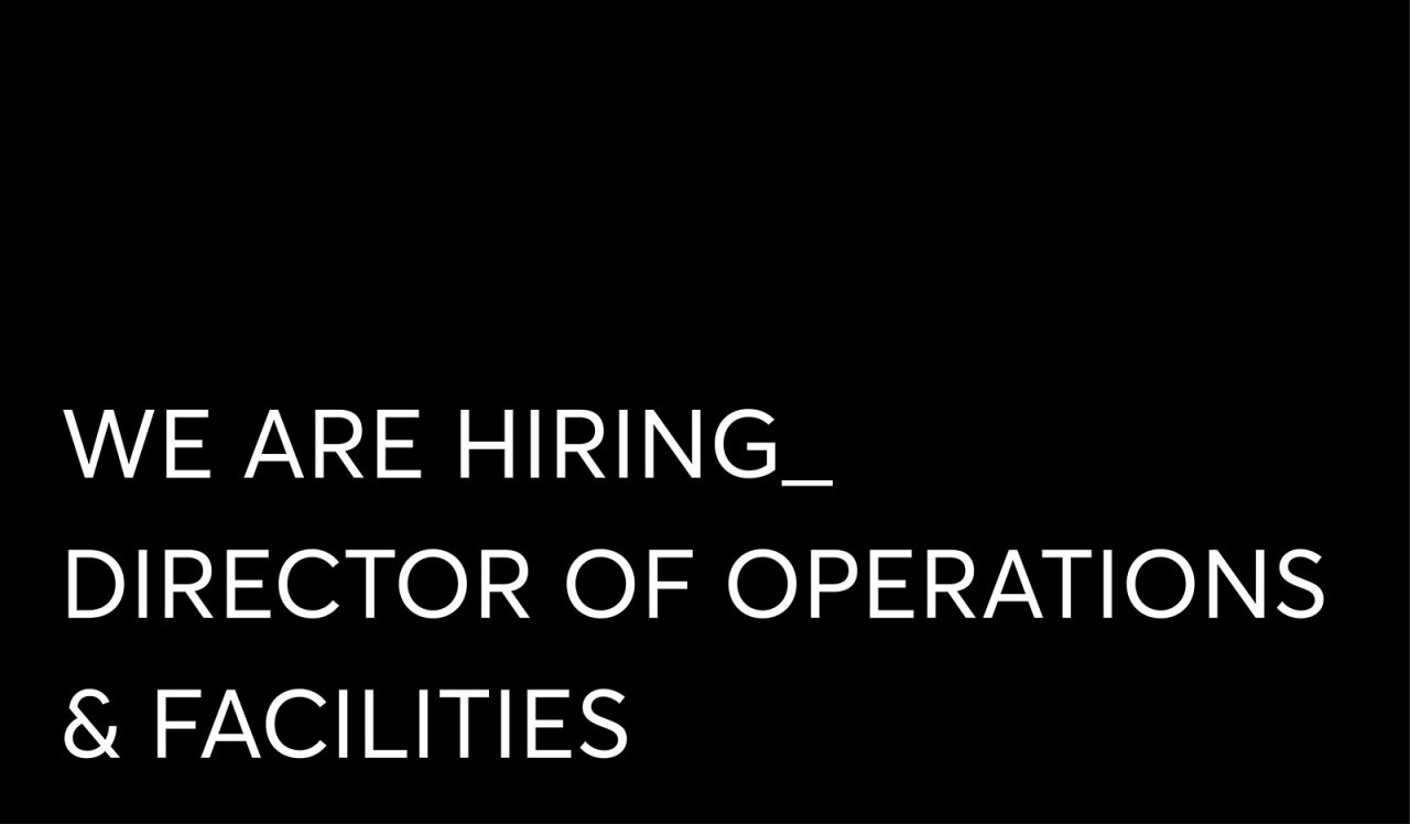 Hiring Director of Operations Facilities