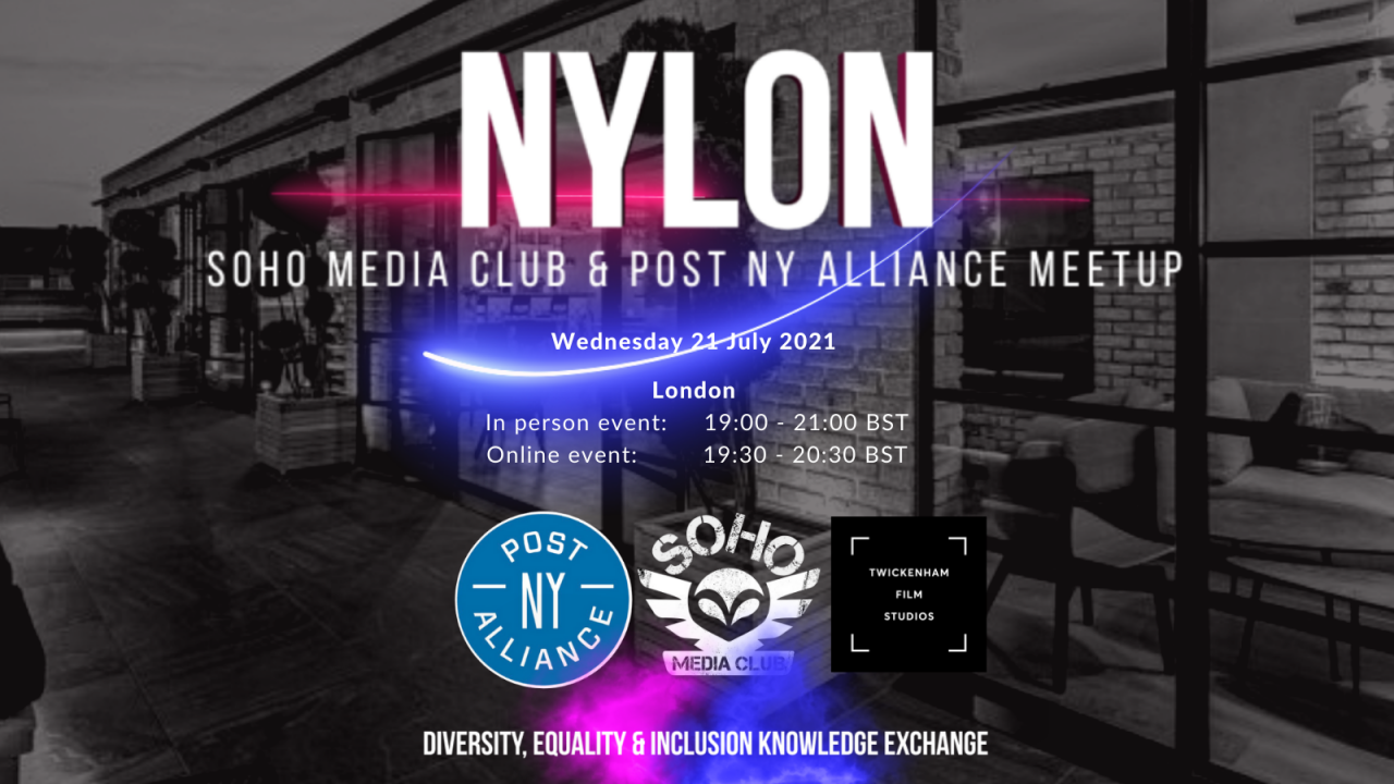 TFS host event with Soho Media Club & Post New York Alliance // Wed 21st July